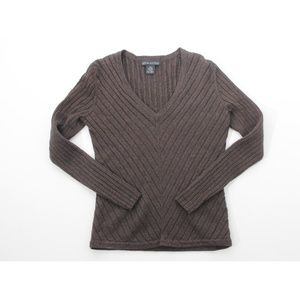 Banana Republic Solid Fitted Soft V-Neck Sweater